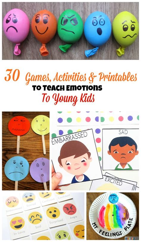 30 activities and printables to teach emotions to 231 | 30 Games To teach emotions