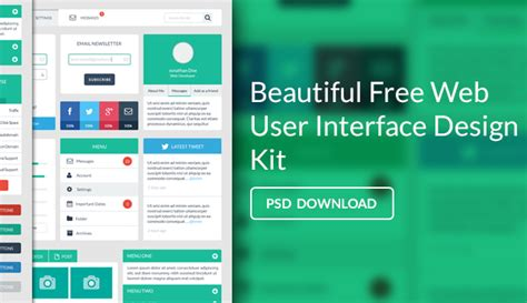 user interface design free web user interface design kit psd 171 css author