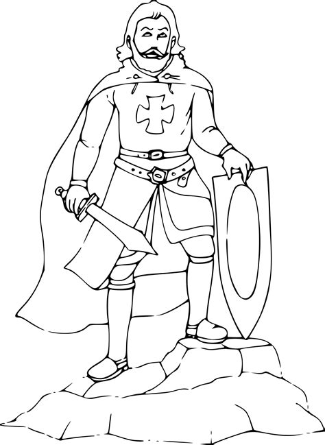 coloriage chevalier avec une 233 p 233 e 224 imprimer sur coloriages info
