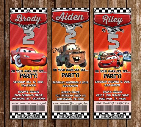 concept designs disneys cars birthday party
