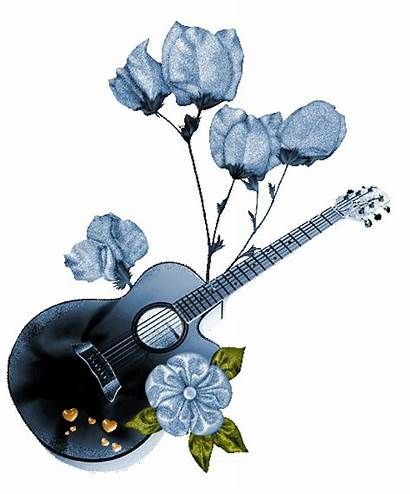 Guitar Musique Musik Animated Glitter Instrument Musical