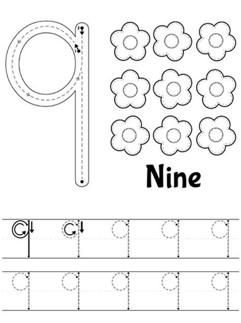 best 25 number 9 ideas on seven and 195   7503fb2445e9ca3bcfb85d7756360b6b number worksheet preschool number worksheets
