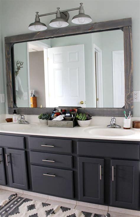 diy rustic wood mirror frame bathroom bathroom