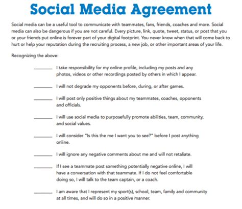 social media contract templates find word templates