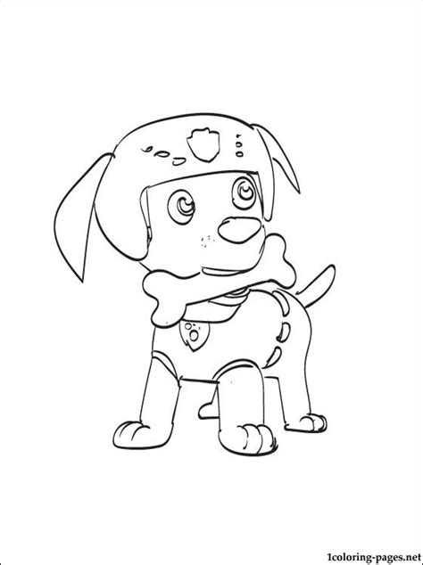 coloring page zuma paw patrol coloring pages