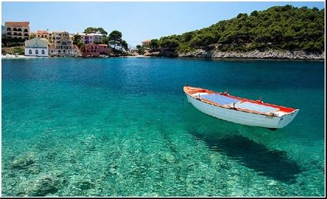 Floating Boat Picture by Cefalonia Pictures By Aspis Assos Greeka Floating Boat In