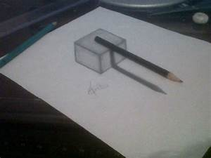 3D Drawing - Pencil upon Cube by Mendiis on DeviantArt