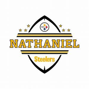 pittsburgh steelers personalized name wall decal shop With best 20 steelers wall decals