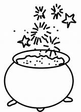 Cauldron Drawing Colouring Clipartmag Freebie Friday sketch template
