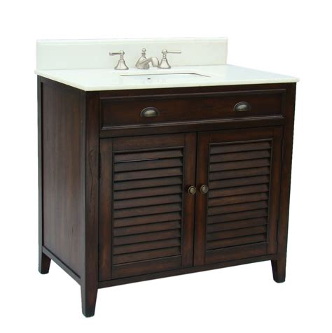 adelina 36 inch cottage brown finish bathroom vanity