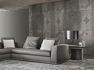 revetement mural en cuir la nouvelle tendance travauxcom With couleur de peinture tendance 6 beton colore de la couleur dans votre interieur travaux