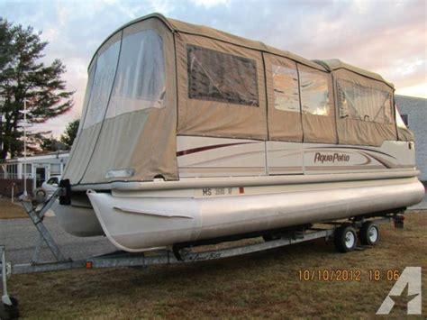 2004 aqua patio 24 ft pontoon boat 24 foot blue 2004