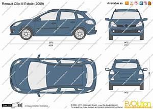 Dimensions Renault Clio : renault clio iii estate vector drawing ~ Medecine-chirurgie-esthetiques.com Avis de Voitures