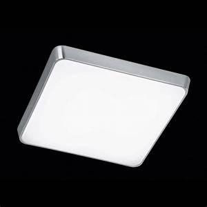 Dimmbare Led Deckenlampe : dimmbare led deckenleuchte quadratisch in aluminium und kunststoff ~ Frokenaadalensverden.com Haus und Dekorationen
