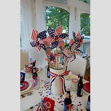 Patriotic Holiday Table Decor  The Bright Ideas Blog
