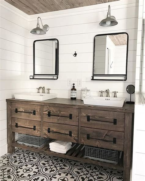 ana white rustic farmhouse double bath vanity