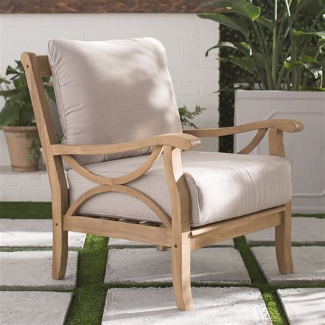 birch lane brunswick teak chair reviews wayfair