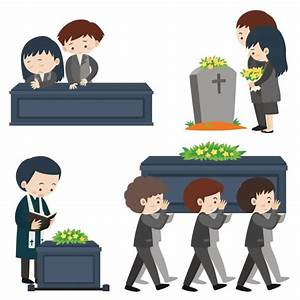 Funeral clipart together - Pencil and in color funeral ...