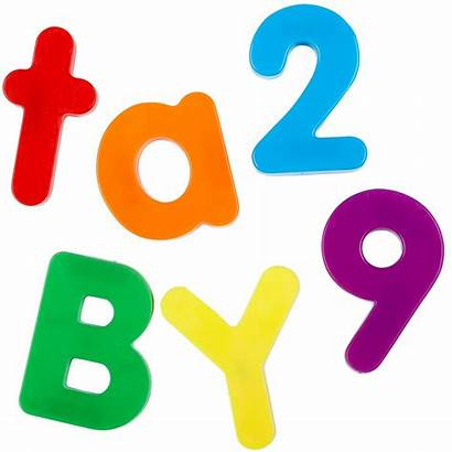 Letters Clipart Magnetic Clip Library Pack Numbers