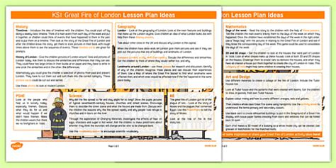 The Great Fire Of London Lesson Plan Ideas Ks1  The Great Fire Of London