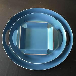 Corbeille à Pain Design : corbeille pain design en bois bleu canard vaisselle tendance ~ Teatrodelosmanantiales.com Idées de Décoration