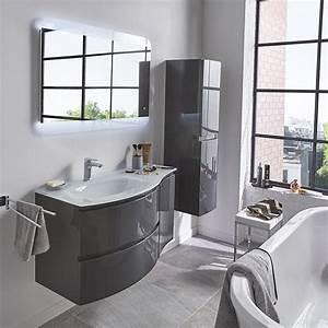 meuble de salle de bains gris 104 cm vague castorama With salle de bain design avec promo meuble salle de bain castorama
