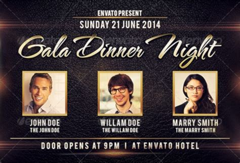 dinner flyers  psd eps ms word indesign