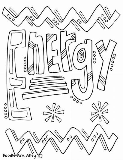 Coloring Pages Matter Science Energy States Printables