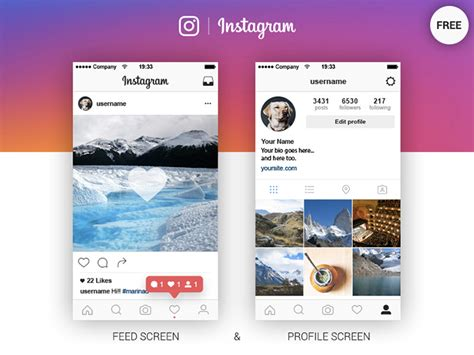twitter feed photoshop template 20 best free instagram mockup templates 2018 themelibs