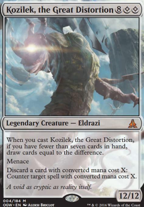 kozilek the great distortion ogw mtg card