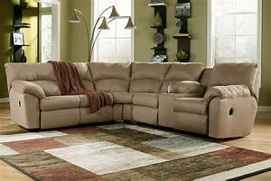 Ashley amazon reclining sectional mocha sectionals for Home comforts furniture warehouse