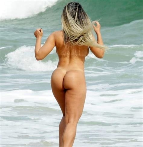 brazilian model renata frisson nude on the beach scandal planet