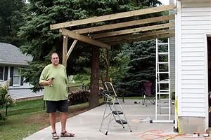 Woodwork Attached Carport Construction PDF Plans