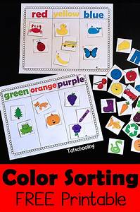 Color Sorting Printable Activity Totschooling Toddler