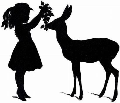 Silhouette Deer Vectors Fairy Graphics Adorable