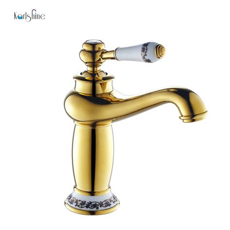 free shipping gold bathroom faucet antique copper faucet