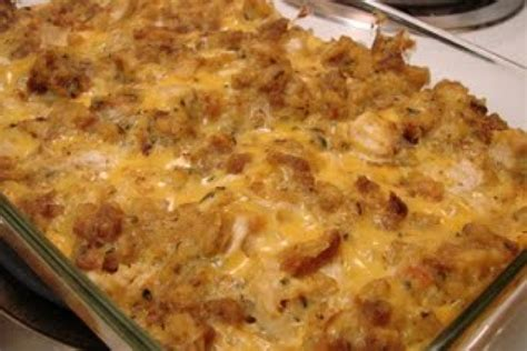 chicken dressing casserole chicken and stuffing bake recipe dishmaps