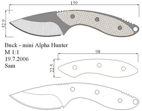 knife templates 206 best images about facas knife em escala 1 1 on jewelry box models and shape