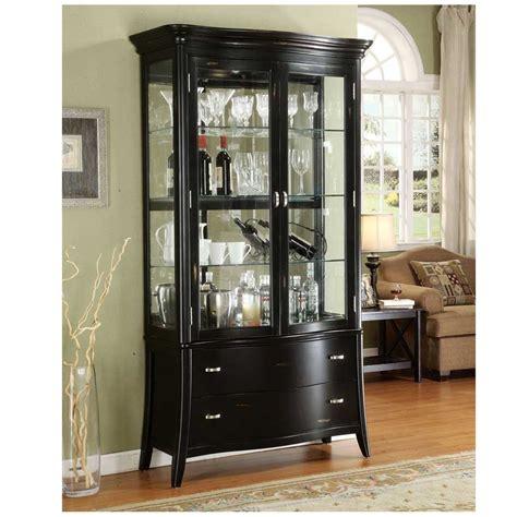 curio cabinet ikea traditional living room design with black finish curio