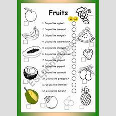 Fruits  Do You Like?  Esl Worksheet By Philipr