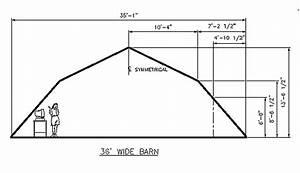 36 Ft  Gambrel Roof Diagram