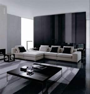 Black And White Living Room Design Theme In Modern ...