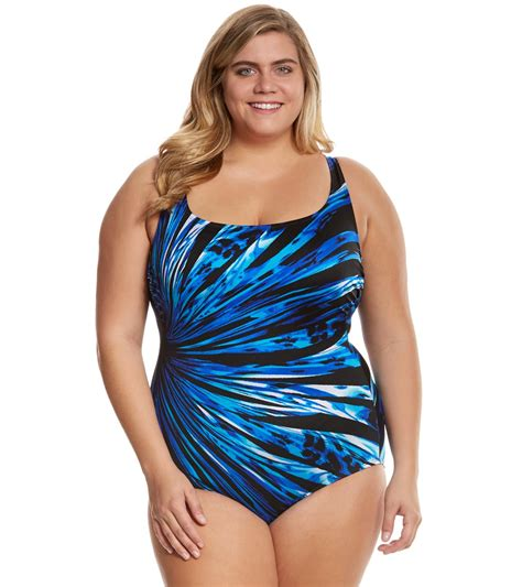 patterned a line skirt how to choose flattering plus size swimwear