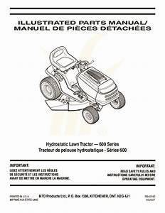 Mtd 600 Hydrostatic Lawn Tractor Mower Parts List