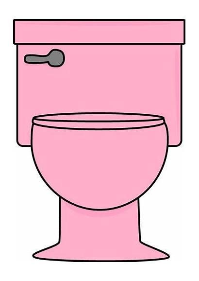 Toilet Clip Pink Potty Clipart Training Flush