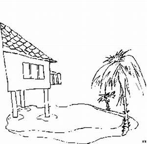 Haus Im Wasser : haus im wasser ausmalbild malvorlage landschaften ~ Watch28wear.com Haus und Dekorationen