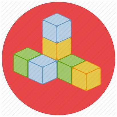 Blocks Icon Building Block Toys Games Toy