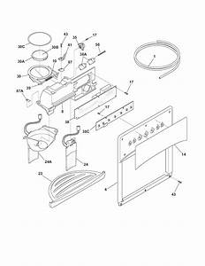 Ice  U0026 Water Dispenser Diagram  U0026 Parts List For Model 25344393402 Kenmore