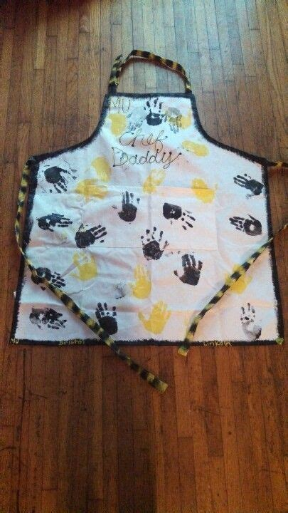 hand print apron  fathers day fathers day crafts