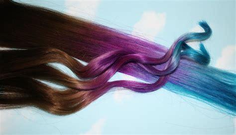 Purple Blue Tie Dye Hair Tips Purple And Turquoise Human